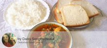 Chicken Gravy, Rice, Bread Slices(4), Surprise Sweet - Optional - Mackeral (Bangda) Fry -  - Homely - By Daisy Songhadwala - 2