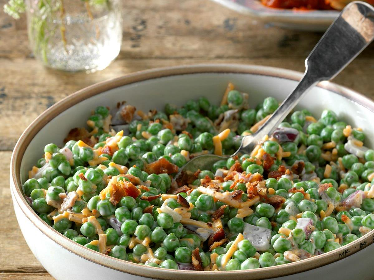 Homely Greens: Creamy Green Peas Salad
