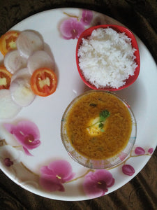 Egg curry with steam rice & Salad -  - Homely - By Asha Parab