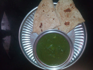 Aloo Palak with Chappati(4) & Papad
