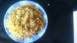 Veg  Pulav, with Papad, & Pickle
