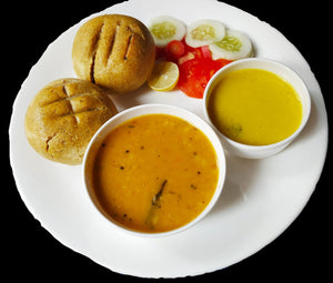 Daal Bati (2 pc) with Kadhi & Salad