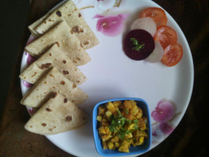 Boiled Egg (2) Bhurji with Chapati (5) & Salad