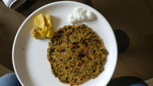 Methi Paratha(2) with Curd