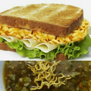 Maggi Cheese Sandwich with Soup Combo