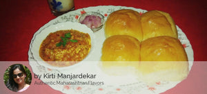 Pav Bhaji with Onion, Lime and Masala Chaas -  - Homely - By Kirti Manjardekar - 2
