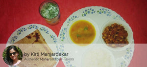 Chawli Sabji, Dal Tadka, Roti, Rice and Buttermilk -  - Homely - By Kirti Manjardekar
