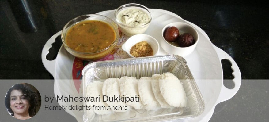 Idli Sambar, Coconut Chutney, Idli Powder and GulabJamun / Cake Slice -  - Homely - By Maheswari Dukkipati