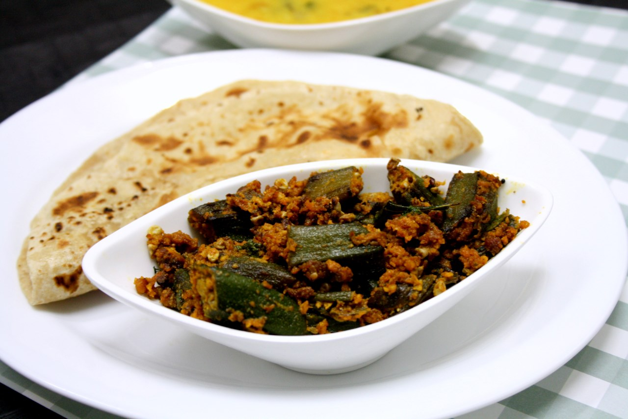 Dal Rice, Bhindi Ki Sabji,with Chapti, Pickle &, Sweet