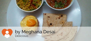Egg Curry with Chapattis & Indian Styled Egg Fried Rice with Eggless Muffin with Mango Cream -  - Homely - By Meghana Desai