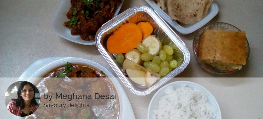 Mutton Thick Curry, Mutton Bhuna, Chapattis, Jeera Rice, Fruits and Eggless Cake -  - Homely - By Meghana Desai