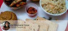 Til Wale Aloo with Chapattis, Palak Khichadi with Tomato Rasam, Choc Balls (Eggless Biscuit base) with Mint Lemonade -  - Homely - By Meghana Desai - 2