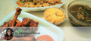Chinese Fried Rice, Manchurian Gravy, Chicken Lollipop (3) and Eggless Banana Walnut Cupcake -  - Homely - By Meghana Desai - 1