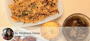 Chinese Fried Rice, Manchurian Gravy, Chicken Lollipop (3) and Eggless Banana Walnut Cupcake -  - Homely - By Meghana Desai - 2
