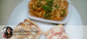 Chicken Pizza (2), Mix Red White Cream Macaroni with Brownie -  - Homely - By Meghana Desai