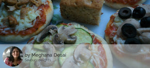"Assorted 5"" Mini Veg Pizza(2 nos), White Cream Pasta, Dessert - Truffle Choco Chip Muffin. -  - Homely - By Meghana Desai - 1"