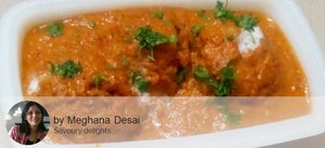 Malai Kofta with Chapattis and Palak Khichdi with Fresh Raw Mango Pickle and Banana Cake -  - Homely - By Meghana Desai - 2