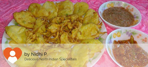 Onion and Potato Pakoda with Tomato Chatni ( 15 pcs ) -  - Homely - By Nidhi P.
