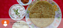 Paneer Cheese Paratha(3) with Curd Salad and Papad -  - Homely - By Nidhi P. - 1