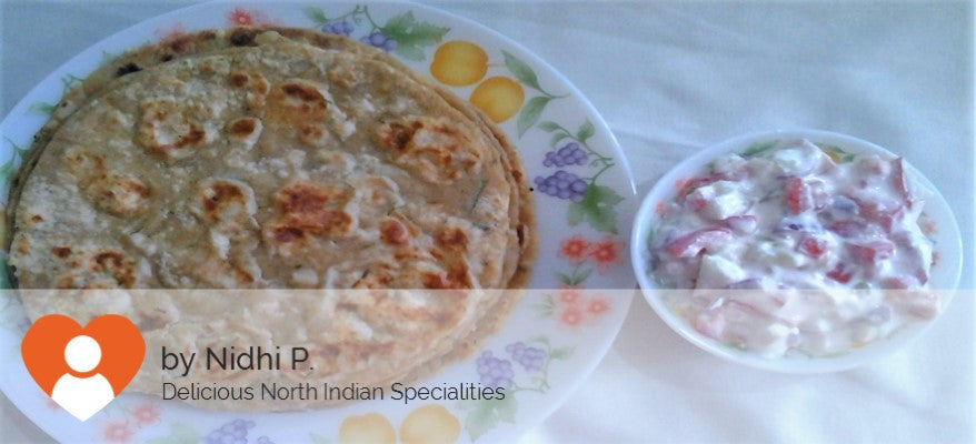Aloo Paratha (3) with Curd Salad -  - Homely - By Nidhi P.
