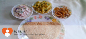 Aloo Jeera Fry, Paratha (5), Curd, Salad and Surprise Dessert -  - Homely - By Nidhi P. - 1