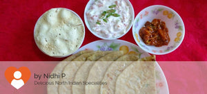 Paneer Cheese Paratha(3) with Curd Salad and Papad -  - Homely - By Nidhi P. - 2