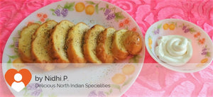 Garlic Bread with Cheese Dip -  - Homely - By Nidhi P. - 1
