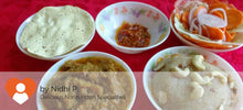 Kathal (Jackfruit) Curry with Parathas(5), Salad, Papad, Pickle and Rava Halwa -  - Homely - By Nidhi P. - 3