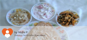 Aloo Gohbi, Curd Salad and Rava Halwa -  - Homely - By Nidhi P.