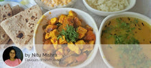 Aloo Shimla Mirch Paneer Mix Sabji with Dal Tadka, Rice, Roti and Boondi Raita -  - Homely - By Nitu Mishra - 2