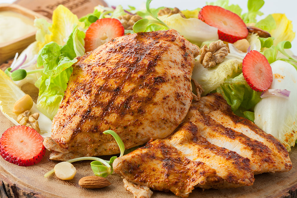 Homely Mini Treat: Peri Peri Grilled Chicken with Sprouts Salad