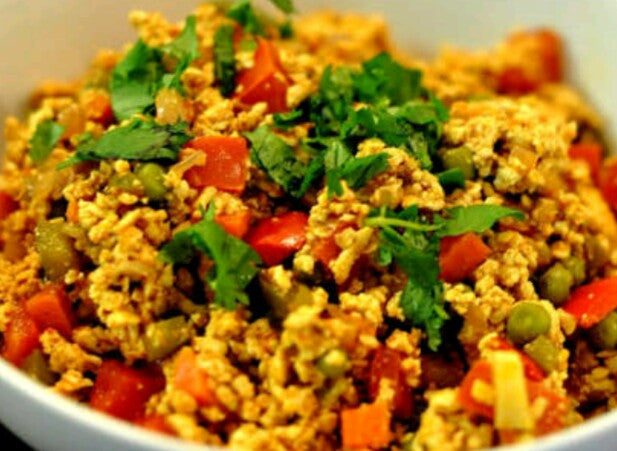 Egg Bhurji with Chapati