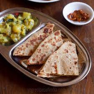 2 Plain Parathas with Aloo Jeera Sabji