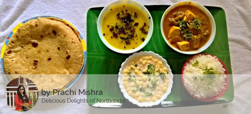 Paneer Masala, Dal Tadka,Raita, Rice ,Butter Roti, with Surprise Dessert -  - Homely - By Prachi Mishra