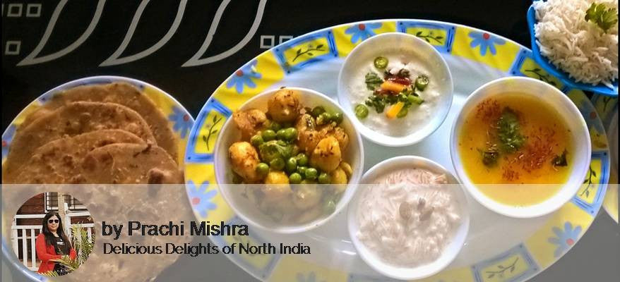 Aloo Matar Sabzi, Dal, Rice, Raita,Butter Roti with Vermicelli Kheer -  - Homely - By Prachi Mishra