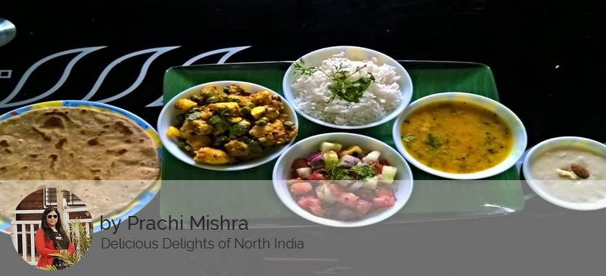 Aloo Matar Paneer sabji , Dal ,Green Peas  Rice, Roti, Salad, Surprise Dessert -  - Homely - By Prachi Mishra