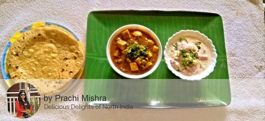 Matter Paneer, Raita with Roti -  - Homely - By Prachi Mishra