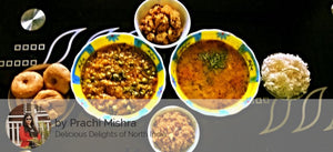 Alu jeera, Baingan Bharta, Dal , Bati / Roti with ghee and Dessert / Sprout Salad -  - Homely - By Prachi Mishra