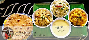 Alu Jeera, Louki ki Sabzi, Dal/Kadhi, Rice with Butter and Surprise Dessert -  - Homely - By Prachi Mishra
