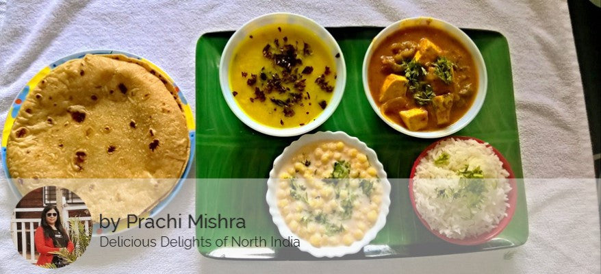 Dal Tadka, Mattar Paneer, Rice, Butter Roti(3), Raita and Surprise Dessert -  - Homely - By Prachi Mishra