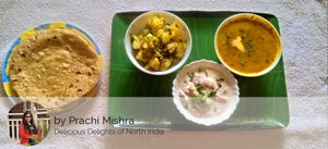 Aloo Jeera , Dal fry ,Butter Roti with Raita -  - Homely - By Prachi Mishra