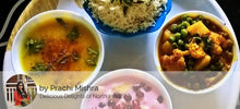 Aloo Gobi mutter ki Sabji, Dal, Jeera Rice, Fried Brinjal, Raita, Paratha and Dessert - Fruit Custard -  - Homely - By Prachi Mishra - 3