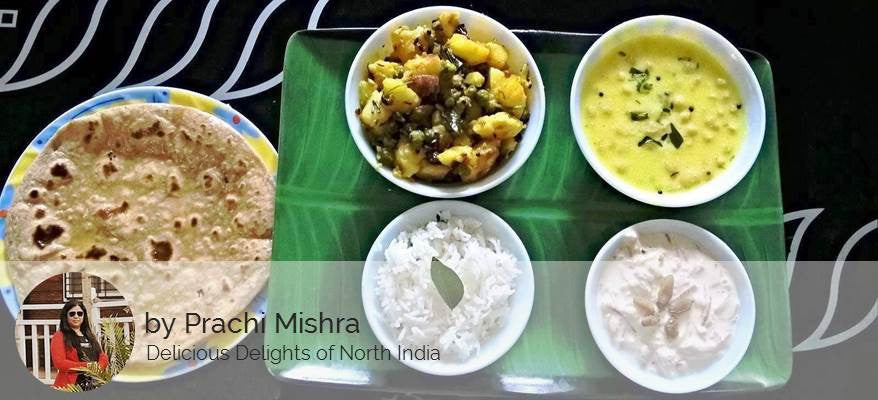 Aloo Matar Sabzi, Ghee Roti (3 Nos.), Kadhi, Steamed Rice & Dessert - Vermicelli Kheer -  - Homely - By Prachi Mishra
