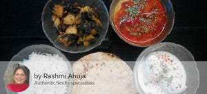 Methi Aloo, Mixed Dal Tadkewali, Dahi Bhalla(2),Steamed Rice, Ghee Rotis (4) -  - Homely - By Rashmi Ahuja - 1