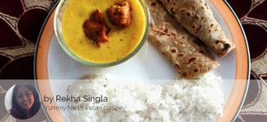 Punjabi Kadi Pakora with Jeera Rice and Ajwain Paratha -  - Homely - By Rekha Singla