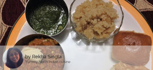 Pav, Bhaji, with Sooji ka Halwa -  - Homely - By Rekha Singla - 1