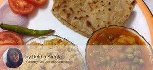 Aloo Matar with Paratha and Veg Pulao -  - Homely - By Rekha Singla - 2