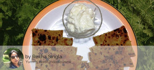Aloo Pyaz and Matar ka Paratha (3) with Curd -  - Homely - By Rekha Singla - 1