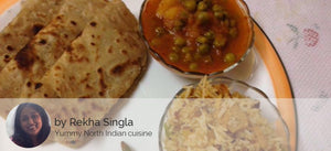 Aloo Matar with Paratha and Veg Pulao -  - Homely - By Rekha Singla - 3