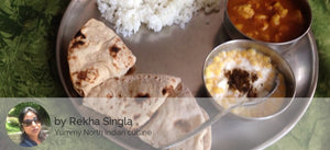 Aloo soyabean ki rasedar sabji with rice roti and boondi ka raita -  - Homely - By Rekha Singla - 3